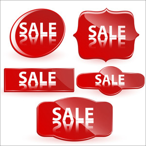 Sale Buttons Vectors