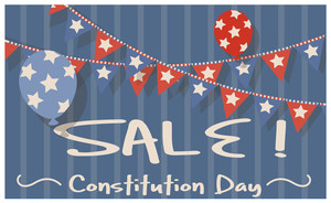 Sale & Celebration Banner For  Constitution Day Vector Illustration