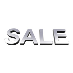 Sale - Chrome Sign.