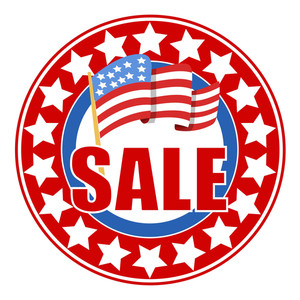 Sale Circular Vector Seal 4th Of July Vector
