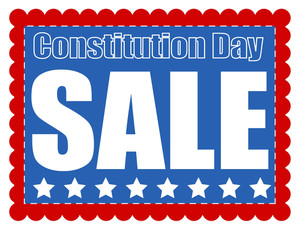 Sale Coupon Banner Constitution Day Vector Illustration