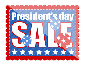 Sale Coupon In Stamp Shape Presidents Day Vector Illustration