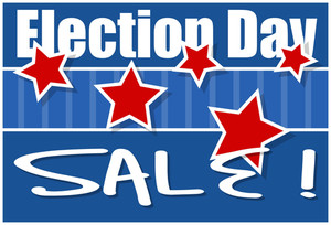 Sale  Election Day Vector Illustration