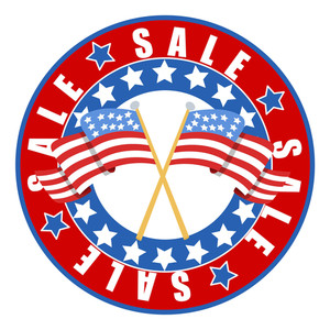 Sale Frame 4th Of July Vector Illustration