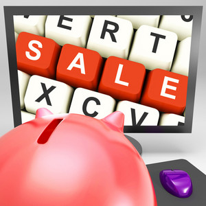 Sale Keys On Monitor Showing Special Promotions