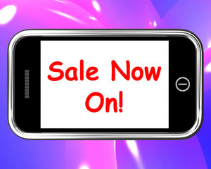 Sale Now On Mobile Message Shows Internet Bargains