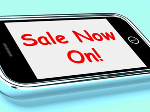 Sale Now On Mobile Message Shows Internet Discounts