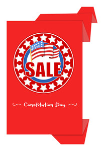 Sale Origami Paper Banner  Constitution Day Vector Illustration
