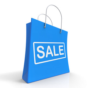 Sale Shopping Bag Shows Discount Or Promo