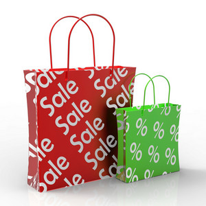 Sale Shopping Bags Showing Reductions