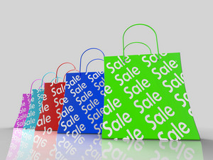 Sale Shopping Bags Shows Bargains