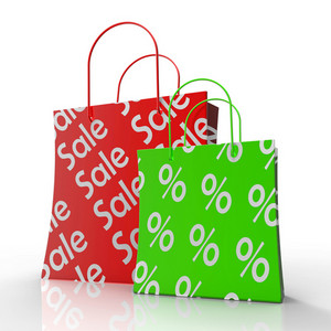 Sale Shopping Bags Shows Reductions