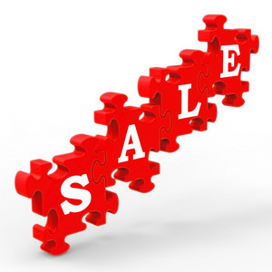 Sale Shows Symbol For Discount And Promotions