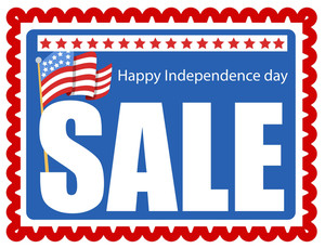 Sale Stamp 4th Of July Vector