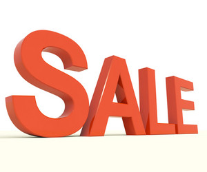 Sale Word As Symbol For Discount And Promotions