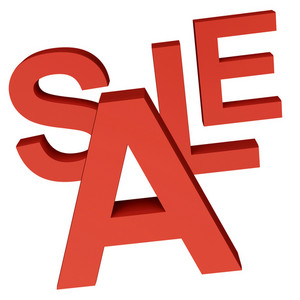 Sale Word As Symbol For Discounts And Promotions