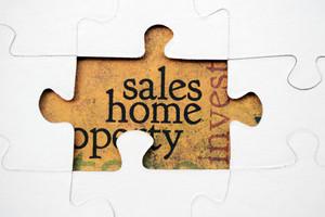 Sales Home Puzzle Concept