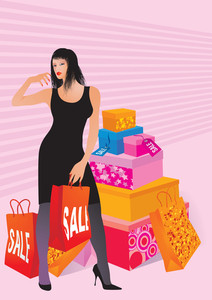 Sales Season. Vector Illustration