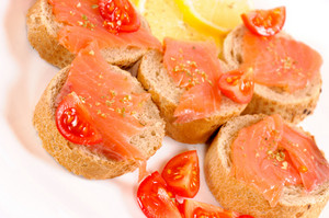 Salmon And Bread