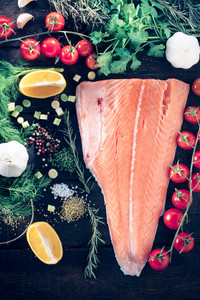Salmon With Ingredients