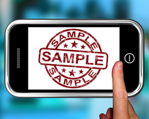 Sample On Smartphone Shows Examples