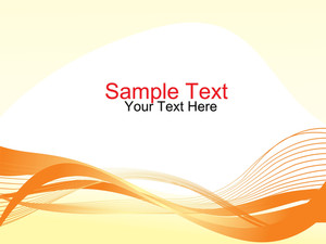Sample Text And Scroling Wave On The Bottom
