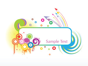 Sample Text Frame With Arrow Background