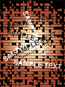Sample Text On Brick Wall