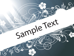 Sample Text On Gradient Background With Floral Elements