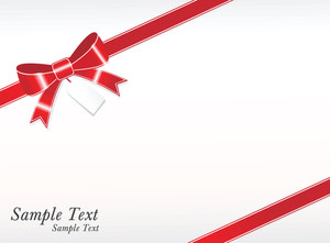 Sample Text Shiny Red Package Bows