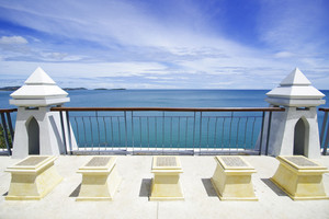Samui viewpoint on blue sky