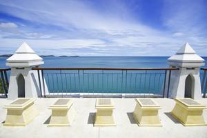 Samui viewpoint on blue sky