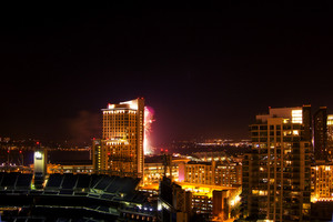 San Diego City Buildings At Night