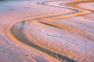 Sand dunes landscape at sunrise