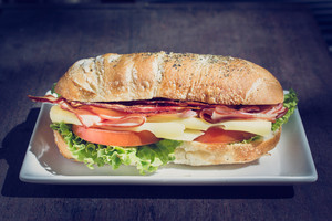Sandwich Meal On Plate