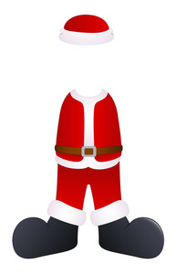 Santa Claus Costume Vector