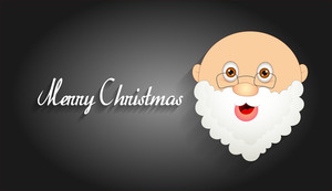Santa Claus Face Christmas Banner