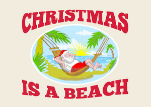 Santa Claus Father Christmas Beach Relaxing