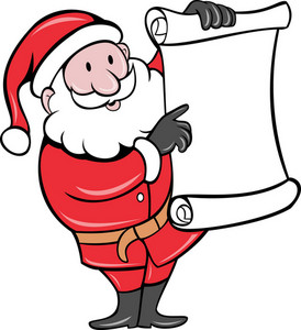 Santa Claus Holding Scroll List
