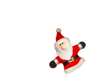 Santa Claus On The White Background