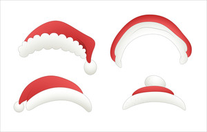 Santa Claus Vector Caps