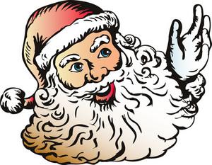 Santa Claus Woodcut Style