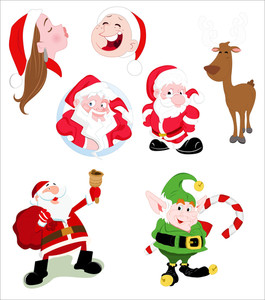 Santa Clause Vector Characters