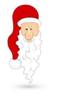 Santa Face Vector Illustration