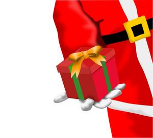 Santa Hand Holding Gift