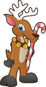 Santa Reindeer - Cartoon Character