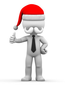 Santa Showing Thumbs Up