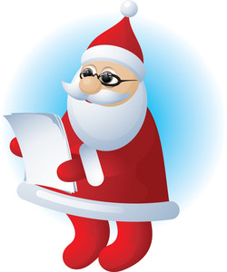 Santa. Vector.
