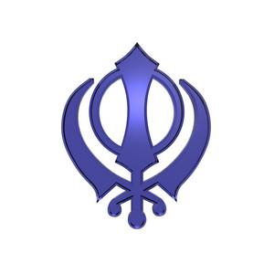 Saphire Sikhism Symbol.