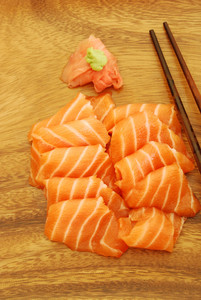 Sashimi Meal With Salmon